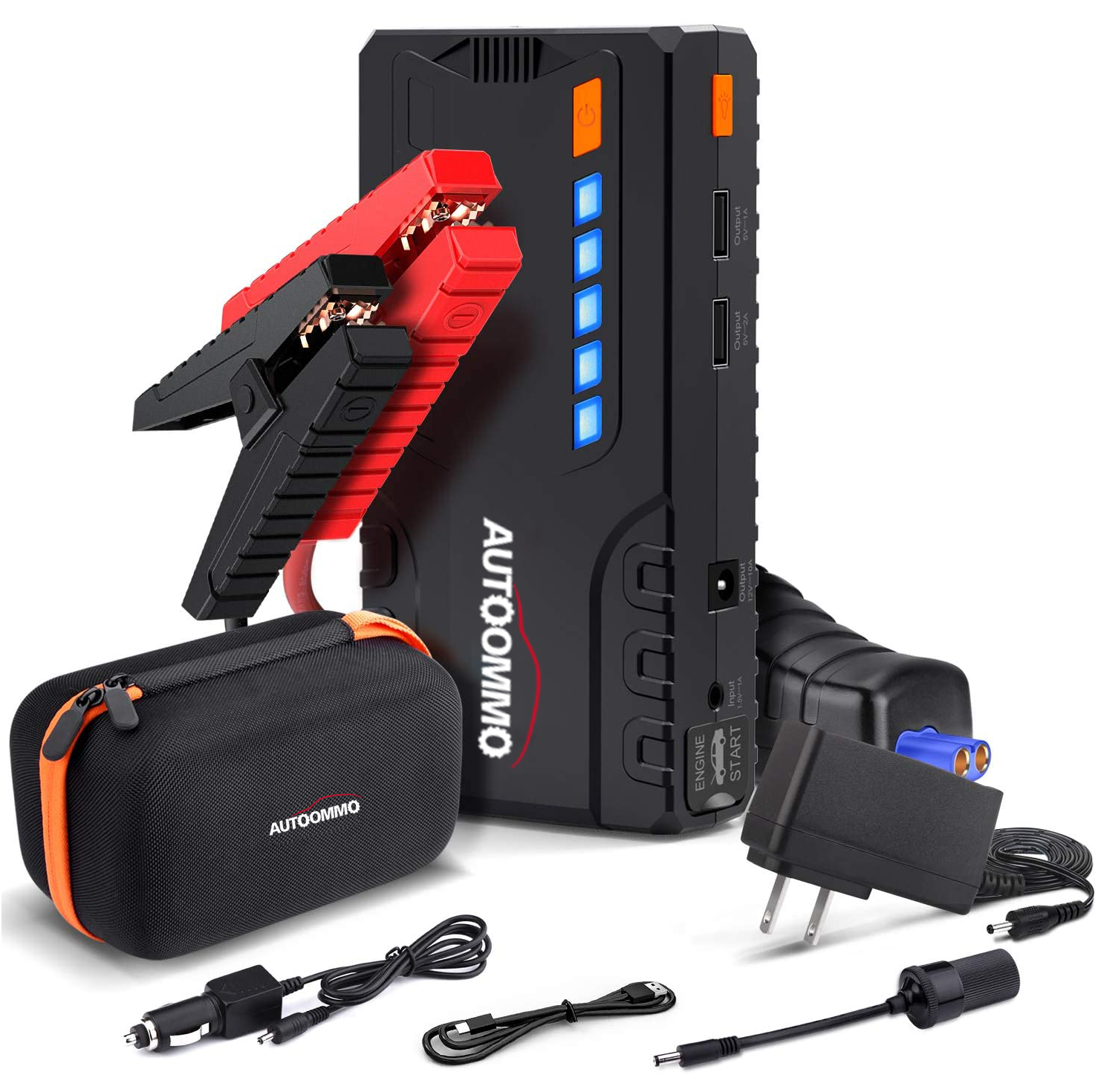 T6 800A Peak 18000mAh Car Jump Starter (up to 7.0L Gas, 5.5L Diesel Engine) with Long Standby, Quick